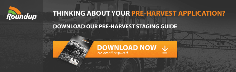 Thinking About Your Pre-Harvest Application? Download our Pre-Harvest Staging Guide | Roundup
