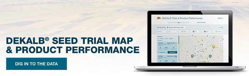 DEKALB Seed Trial Map & Product Performance