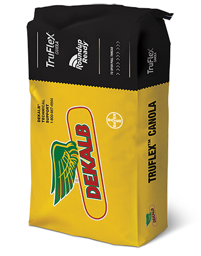 Image of a DEKALB TruFlex Canola with Roundup Ready Technology Yellow Bag