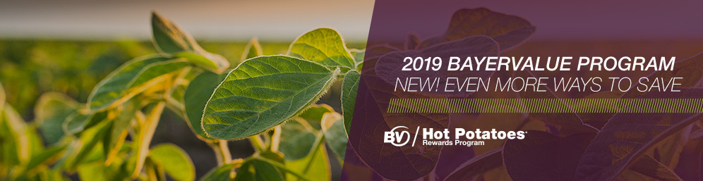 The BayerValue / Hot Potatoes Grower Rewards Program is back and bigger than ever with more qualifying crop protection products than ever before.
