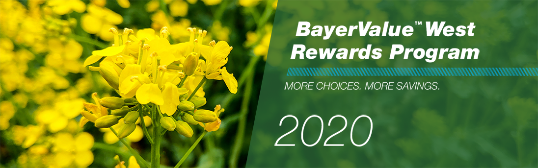 BayerValue West rewards program. More choices, more savings, 2020.