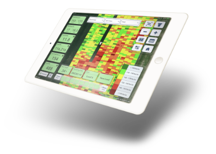 Climate FieldView software product image on a white iPad