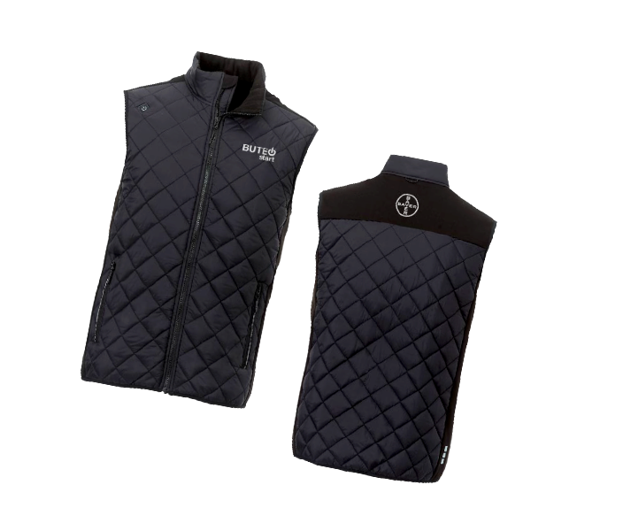 Two heated vests