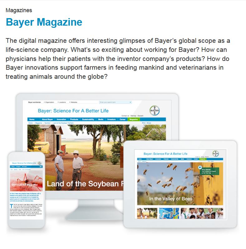 Bayer Magazine