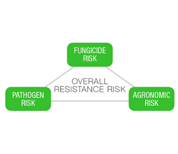 Resistance risk diagram – a sum of fungicide, agronomic and pathogen risks