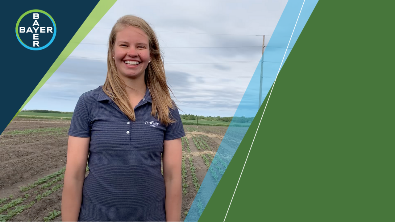 Image of Emily Kruger standing in a field talking about BUTEO start.