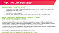 Tips and tricks to minimize pea seed damage