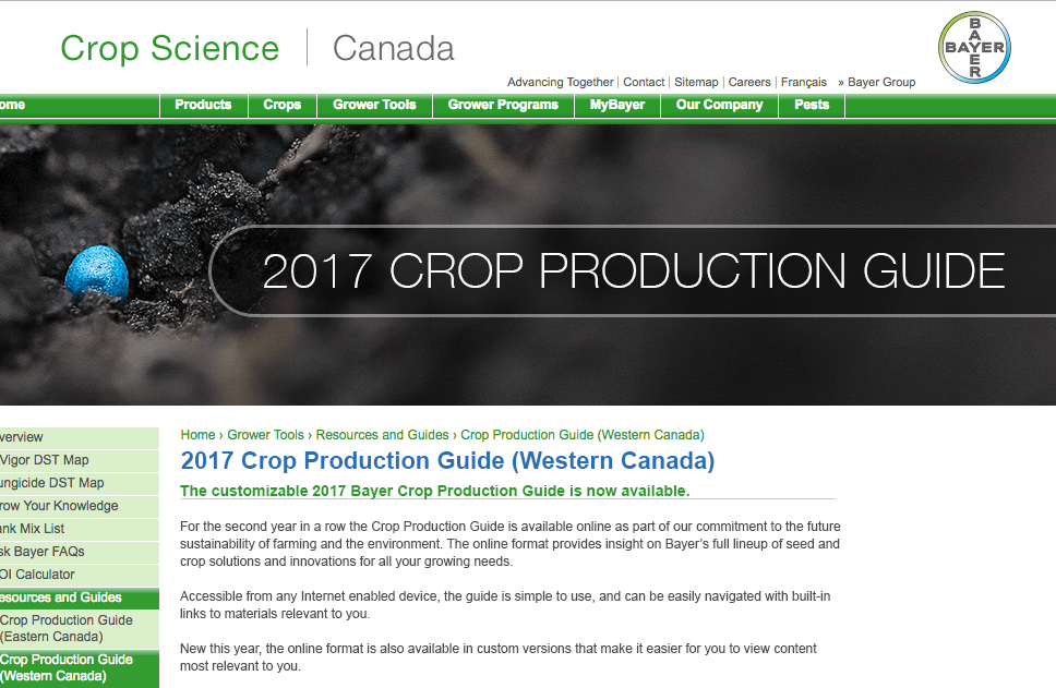 2017 Crop Production Guide (Western Canada)