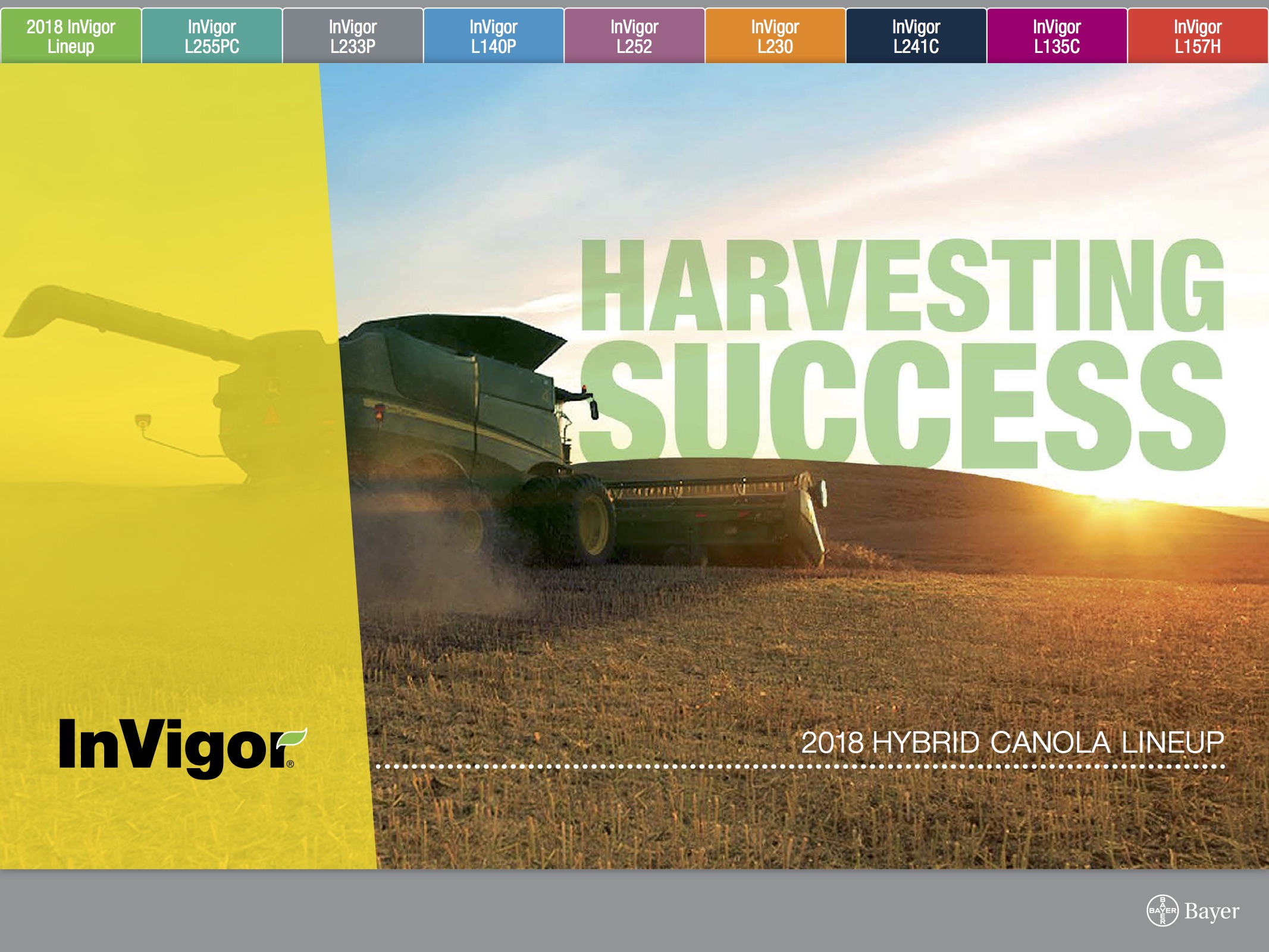 Download the 2018 InVigor Lineup Brochure